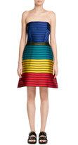 Mary Katrantzou Striped Bandeau Dress with Silk