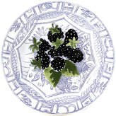 Gien Oiseau Blackberry Canape Plate - Blue/White