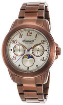 Ingersoll INQ020CMBR Men's Gresham Multi-Function Brown IP SS Champagne Dial