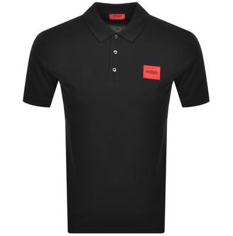 HUGO BOSS Dereso Short Sleeve Polo T Shirt Black