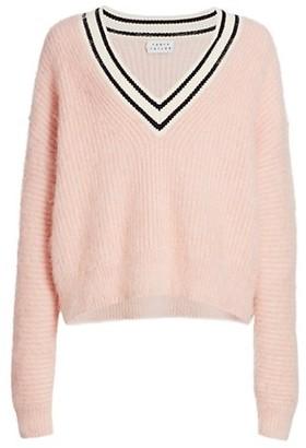 Tanya Taylor Millie Striped V-Neck Sweater