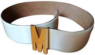 Moschino \N White Patent leather Belts
