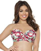 Curvy Kate Women's Aloha Bandeau Underwired Top
