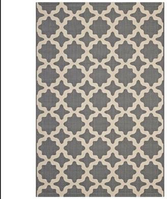 Charlton Home Hervey Bay Moroccan Trellis Gray/Beige Indoor/Outdoor Area Rug Rug Size: Rectangle 5' x 8'
