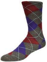Black Brown 1826 Argyle Cotton Socks