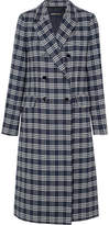 Vanessa Seward Dorian Double-breasted Checked Cotton-blend Tweed Coat - Navy