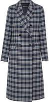 Vanessa Seward Dorian Double-breasted Checked Cotton-blend Tweed Coat - Navy