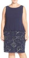 Adrianna Papell Beaded Blouson Dress (Plus Size)