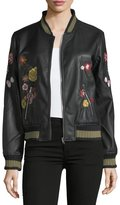 philosophy Floral-Appliqué Bomber Jacket