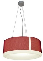 "Luce 1 - Light Single Drum LED Pendant Molto Size: 10"" H x 26"" W x 26"" D, Shade Color: Red"