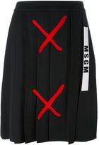 MSGM logo print skirt - women - Polyester - 38