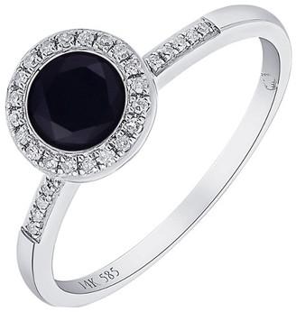 Diana M Fine Jewelry 14K 0.73 Ct. Tw. Diamond & Onyx Ring