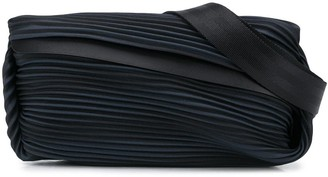Pleats Please Issey Miyake Pleated Diagonal Zip Belt Bag