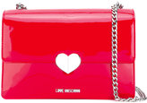 Love Moschino logo heart shoulder bag - women - Polyurethane/Metal (Other) - One Size