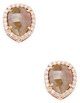 Artisan 18K Rose Gold Pear-Cut Diamond Stud Earrings