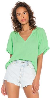 Nation Ltd. Odette Rolled Peasant Shirt