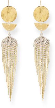 Devon Leigh Modern Chain Crystal Drop Earrings