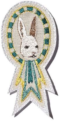 Coral & Tusk Bunny Embroidered Badge