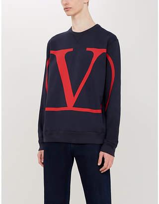 Valentino Logo-print cotton-blend sweatshirt