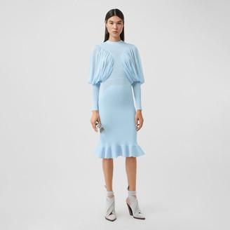 Burberry Puff-sleeve Jersey Dress