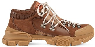 Gucci Leather and Original GG low-top trekking boot