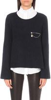 Claudie Pierlot Memo zip-detail knitted jumper