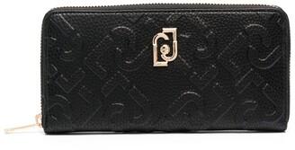 Liu Jo Debossed-Logo Zip-Around Wallet