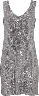 Wallis PETITE Silver Sequin Shift Dress