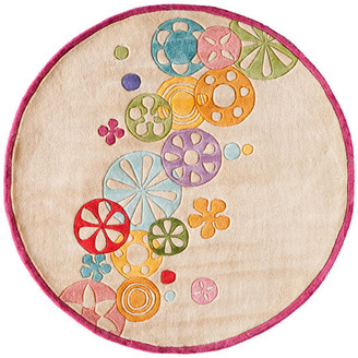 Momeni Lil Mo Hipster Polyester, Hand-Tufted Rug, Ivory, 5'x5' Round