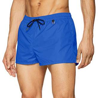 Hom Men's Sunlight Beach Shorts Swim (Orange Fluo 00jx), Small