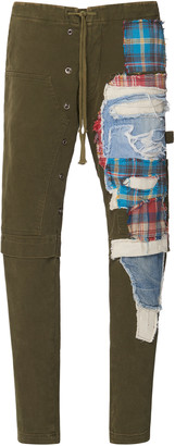 Greg Lauren Slim Patchwork Cotton Pants