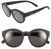 Zeal Optics Women's 49Mm Biodegradable Plant Based Round Sunglasses - Fleetwood Matte Black