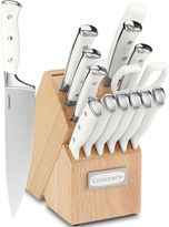 Cuisinart Classic 15-pc. White Triple Rivet Cutlery Block Set