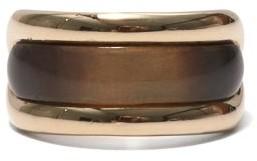 Fernando Jorge Tag Horn & 18kt Gold Ring - Beige Gold