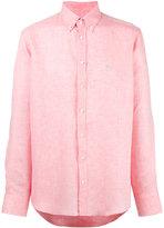 Etro plain shirt - men - Linen/Flax - 39
