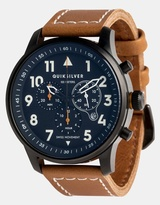 Quiksilver Mens Seafire Leather 44mm Watch