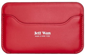 Jeff Wan Leather Card Case Red Port Louis