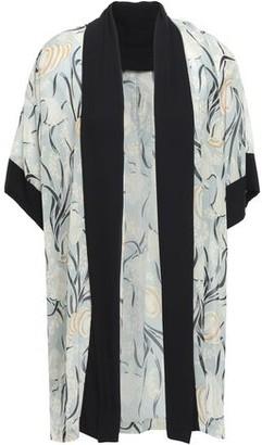 Anna Sui Chiffon-trimmed Printed Gauze Kimono