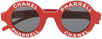 Chanel Pre Owned x Pharrell Williams 2019 logo round sunglasses
