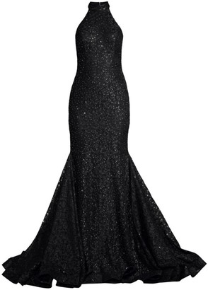 Jovani Halter Sequin Mermaid Dress