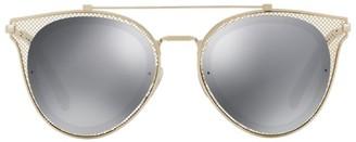 Valentino Mesh Pilot Sunglasses