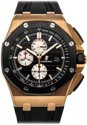 Audemars Piguet Black 18K Rose Gold Royal Oak Offshore Chronograph 26401Ro. Oo. A002Ca.01 Men's Wristwatch 44 MM