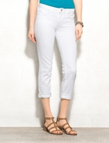 dressbarn WESTPORT Signature Fit Crochet-Trim Cropped Jeans