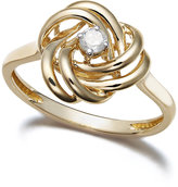 Wrapped in LoveTM Diamond Ring, 14k Gold Diamond Love Knot Ring (1/10 ct. t.w.)