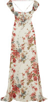 Saint Laurent Floral-print silk-georgette gown
