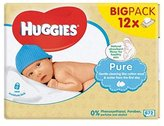 Huggies Pure Baby Wipes 12 Pack X 56S - Pack of 2
