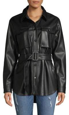 Vero Moda Faux-Leather Belted Jacket