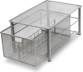 Deco Brothers DecoBros Mesh Cabinet Basket Organizer, Silver (Large - 10.6 X 16 X 7.8)
