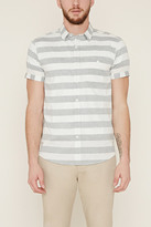 Forever 21 Striped Cotton Pocket Shirt