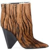Saint Laurent tiger print boots